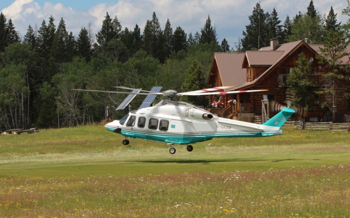 VIP Helicopter charters are available at Siwash Lake Ranch.