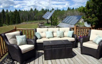 Solar arrays at Siwash lake Ranch